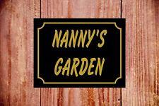 della nonna cartello da giardino 9345 ALLUMINIO/PVC/ADESIVO NUOVO IDEA REGALO