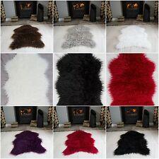 Shaggy Fluffy Sheepskin Rug for Living Room Bedroom House Floor Large & Small