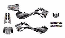 1999 2000 2001 2002 KX125 KX250 graphics decal kit for Kawasaki #2001-Gray Metal