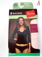 "Hanes®  Women's Panties BIKINIS 3-Pack 42SBAS ""seamless"" ""NO PANTY LINES"" NEW"
