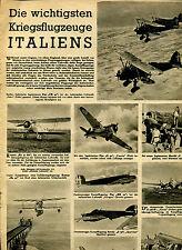 Die wichtigsten Kriegsflugzeuge Italiens--Werbung-1941