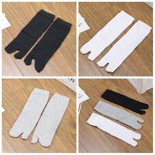 3 Pairs Japanese Kimono Flip Flop Sandal Split Toe Tabi Ninja Geta Socks Unisex