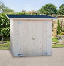 BOX IN DI LEGNO 234x124 porta doppia 20mm casette da giardino 200x100 casetta