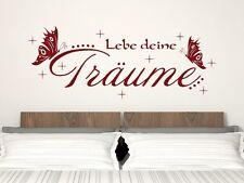 Wandtattoo für Schlafzimmer Deko Wandtatoo Aufkleber Spruch Lebe deine Träume