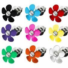 Pendiente de botón Pendiente flores flor FLORECITAS Estrás Cristal Niños BUTTON