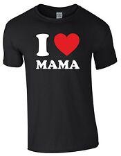 I love Mama Muttertag Geschenk Mutter Shirt Farbwahl Fun Herrenshirt Männer S385