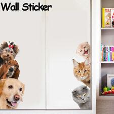 Door Decor Dog  Funny Animal Mural  Wall Sticker  Wallpaper 3D Decal