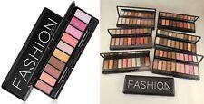 Profesional 10 Colores Paleta de Sombra de ojos Sombras de ojos maquillaje Kit Y Espejo Cepillos