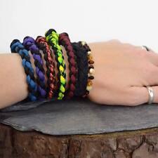 Thin Stitched Paracord Survival Bracelet - Various Colours UK
