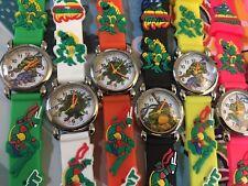 Reloj de pulsera niños Niños Niñas Reloj de Pulsera de Silicona de tortugas ninja Slim 3 mm Ch