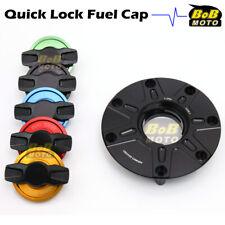 BLACK FCR 1/4 Quick Lock Gas Fuel Cap For Honda CBR 600 F4I F4 91-08 05 06 07