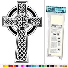 Celtic Cross Knotted - Vinyl Sticker Decal Wall Art Decor