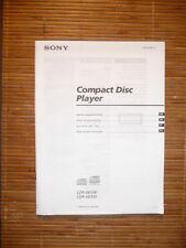 Bedienungsanleitung/Instructions für Sony CDP-XE530/CDP-XE330,ORIGINAL