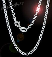 925 Sterling Silber Erbskette Breit: 2,3 mm Verschiedenen Längen 36 - 95 cm Box