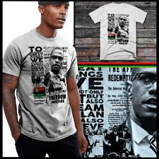 Black History Freedom T-Shirt Malcolm X, Huey P Newton, M Garvey, Angela Davis