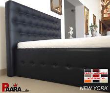 POLSTERBETT Textil Leder Bett Gestell Lattenrost Matratzen H2 H3 Visco NEU PU