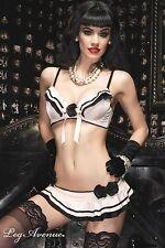 """Burlesque 2 pièces """"Mamzelle"""" 86344 Leg Avenue Taille S M ou L"""