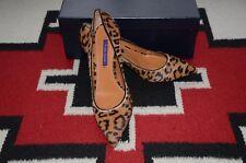 Ralph Lauren Collection Purple Label Dinah Leopard Leather & Fur Pump Shoes