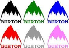 BURTON mountain vinyl sticker decal snowboarding