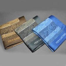 100% Cotton Handkerchiefs Pocket Square Green Blue Brown Paisley Fabric 48cmx48c