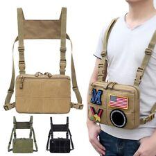 Men Women Tactical Vest Shoulder Bags Chest Rig Bag Hip Hop Adjustable Packs USA