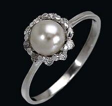 925 ECHT SILBER *** Perlen Ring, Größenauswahl