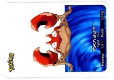 POKEMON LAMINCARDS CARTE CARD 098 KRABBY