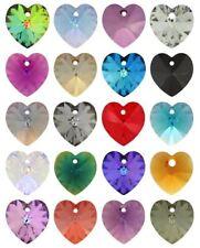 36 x Genuine SWAROVSKI CRYSTAL 6228 cuore ciondoli 10.3 x10mm * molti colori