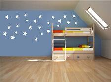 24 X Star Wall Stickers Children Nursery Kids Room Decals UK RUI99A