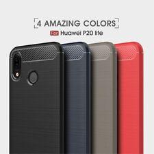 Housse etui coque silicone gel carbone pour Huawei P20 Lite + film ecran