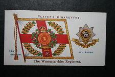 Worcestershire Regiment    1907 Vintage Regimental Colour & Badge Card # VGC