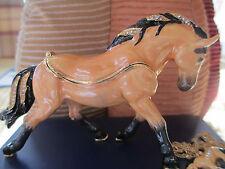 """quarter horse """" Siniloh """" ENAMELED JEWEL BOX & NECKLACE #62641"""