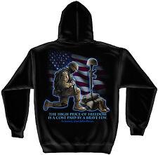 Erazor Bits Hooded Sweatshirt Sweater Hoodie Military Soldiers Cross Black
