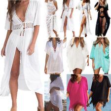 Damen Bikini Cover Up Vertuschung Strandkleid Sommer Kleid Minikleid Partykleid