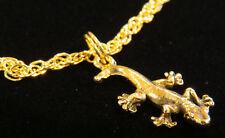 Gecko Ankle Bracelet Anklet Lizard 24 Karat Gold Plate Or Oms & Sterling Plate