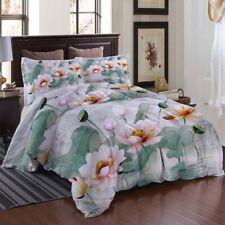 Orange Pink Lotus 3D Printing Duvet Quilt Doona Covers Pillow Case Bedding Sets