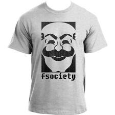 Fsociety Binary Mask Anonymous Hacker Geek TV Show inspired T-Shirt
