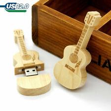 Guitar USB Flash Drive 16GB Wooden Guitar Memory USB 2.0 Stick Thumb Disk