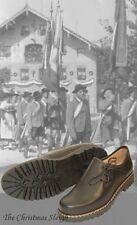 dirndl + bua Austrian Men's Black Leather Dress Shoes Handmade High Quality
