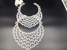 Stunning Sew-On Diamante Rhinestone Neckline Applique for Bridal Craft Dresses