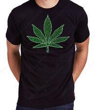 "Unisex / Men's Rhinestone "" Marijuana, Cannabis Weed Leaf "" T-Shirt or Hoodie"