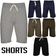 Pantalón corto para hombre Gimnasio De Polar Jogger Liso Cintura Elástica Correr Deportes Jog