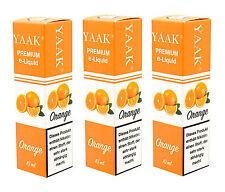 Liquid 5 x 10 ml - YAAK® E-Liquid Orange in verschiedenen Nikotinstärken