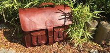 New Men's Vintage Leather Messenger Bag Shoulder All Size Laptop Bag Briefcase