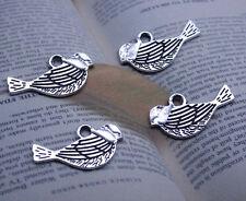 Free shipping 30/60/100 PCS retro style Auspicious birds alloy charms pendants
