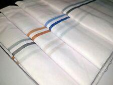 Lot Pure Soft Cotton Hankies Handkerchief Color Line Border Free Ship Choose qty
