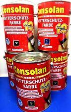 Consolan 2,5L Wetterschutzfarbe 12,35€/L Wetterschutz Farbe Holzschutz Holz EA