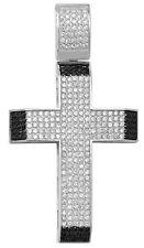 Men's Silver Bling Cross Necklace