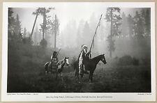PRINT: NEZ PERCE LAPWAI INDIANS WAR BONNETS WAR DRESS TIPIS JANE DODGE 1890s