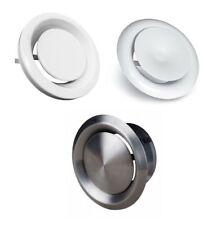 Abluftventil Zuluftventil Zuluft-Abluft Edelstahl weiß Tellerventil 100 - 200 mm